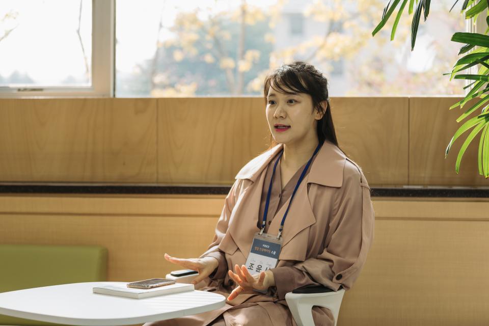 창업 인큐베이팅 스쿨 교육생 조윤서 씨