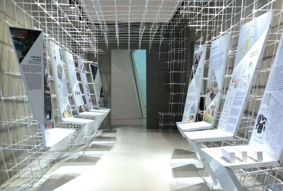 2017년 서울 비엔날레의 'White Spaces' 설치 완료 사진