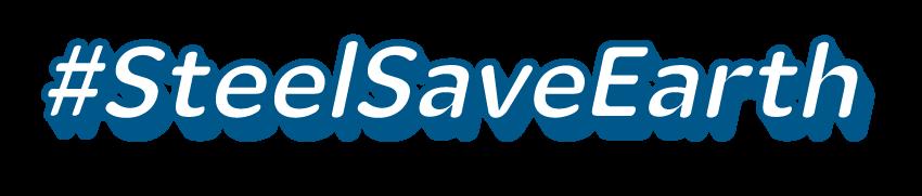 #SteelSaveEarth 로고