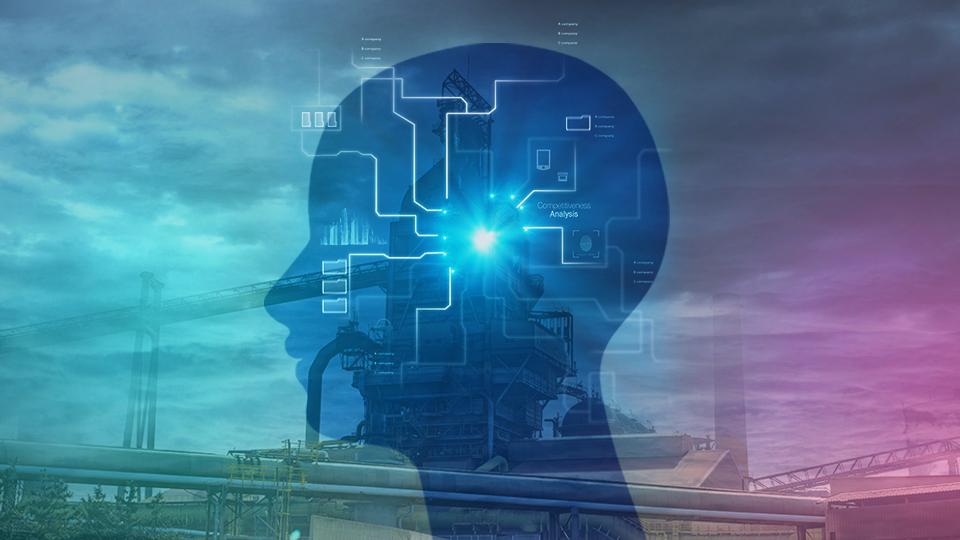 용광로 내부 AI 시스템을 의미하는 이미지