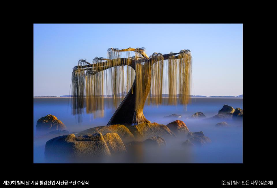 제20회 철의 날 기념 철강산업 사진공모전 수상작 [은상] 철로 만든 나무(김순애)
