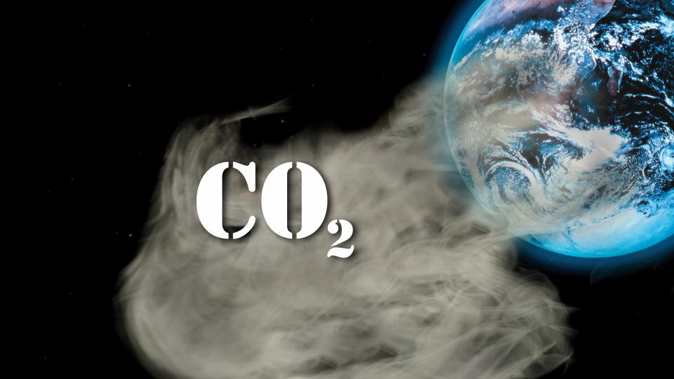 이산화탄소를 뿜어내는 지구