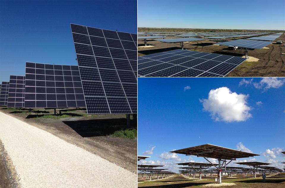 포스맥이 적용된 미국 샌안토니오 Alamo 태양광 발전소 모습
