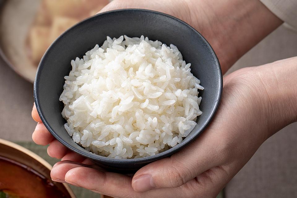 밥 그릇에 담겨진 따끈한 쌀밥의 모습