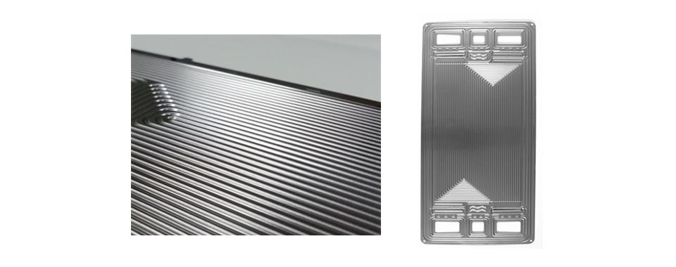 포스코가 세계 최초로 개발한 초고내식성 스테인리스강 금속분리판(Poss470FC) 이미지. 미로같은 형상에서 보듯이 섬세한 가공을 위해 뛰어난 공정 기술이 요구된다.
