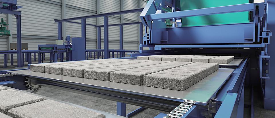㈜삼정산업의 신제품인 와우보드알파로 콘크리트 블록 제조용 몰드베이스로 사용된다.