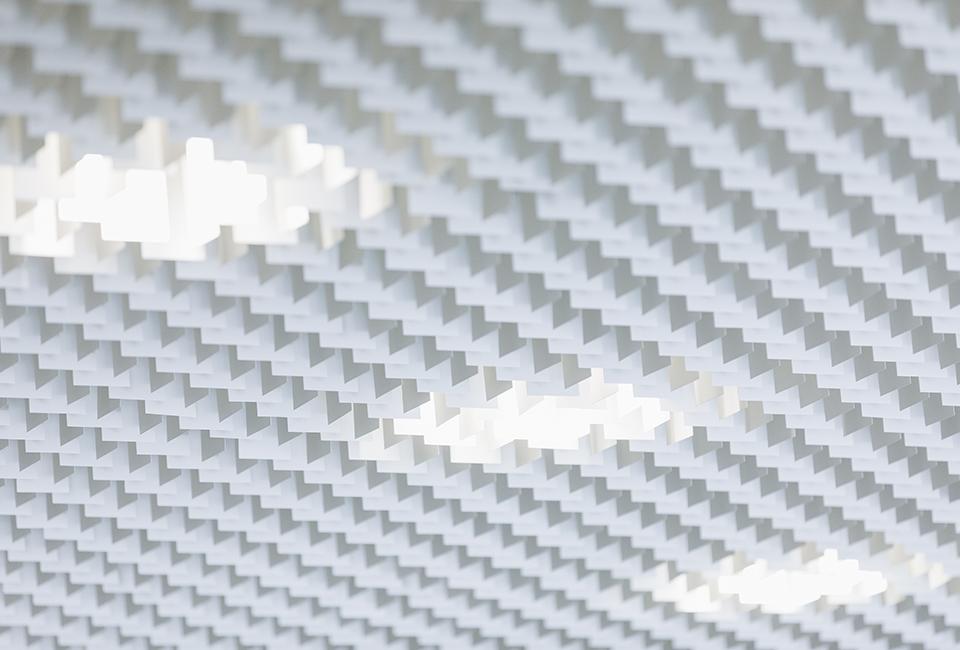 포스코 더샵갤러리 내부에 쓰인 스틸 키네틱 벽 이미지